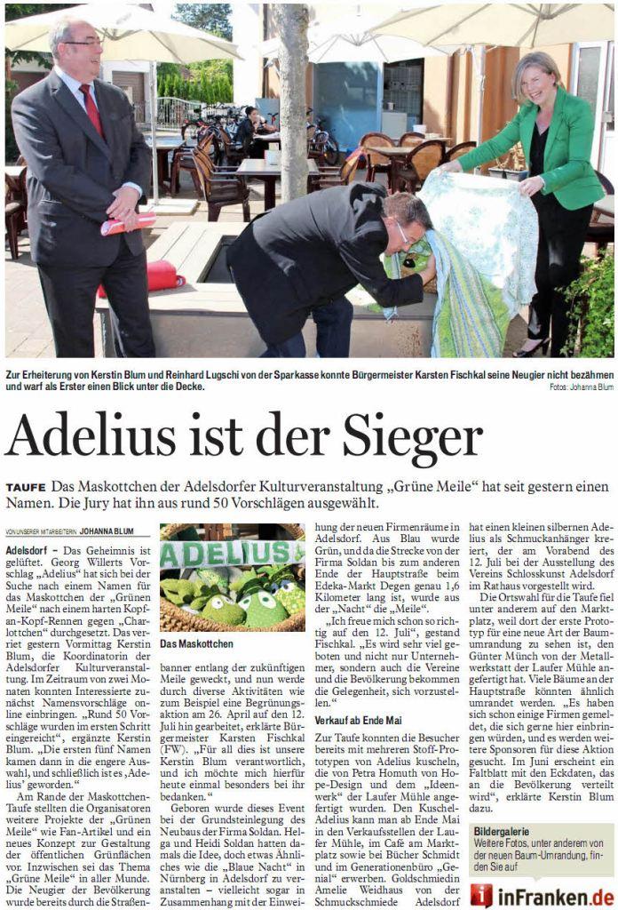 Fränkischer Tag, 21. 5. 2014